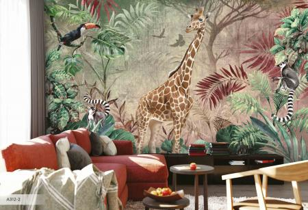 A312 Serie | Giraffe Poster Wallpaper with Different Color Options
