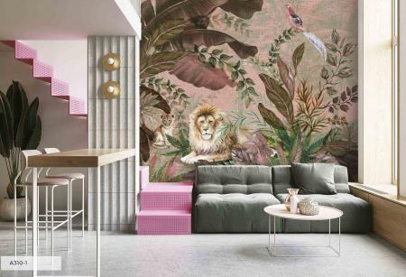 A310 Serie | Lion Patterned Poster Wallpaper