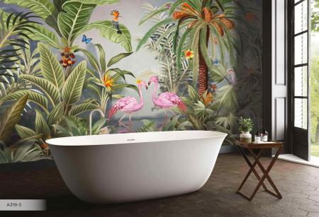 A319 Serie | Flamingo Tasarımlı Poster Duvar Kağıdı
