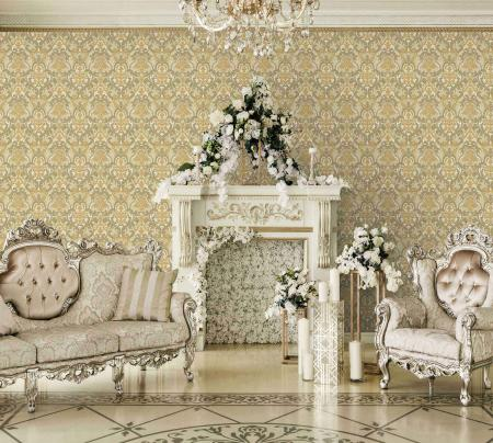 1002 Serie | Classical Damask Pattern Wallpaper