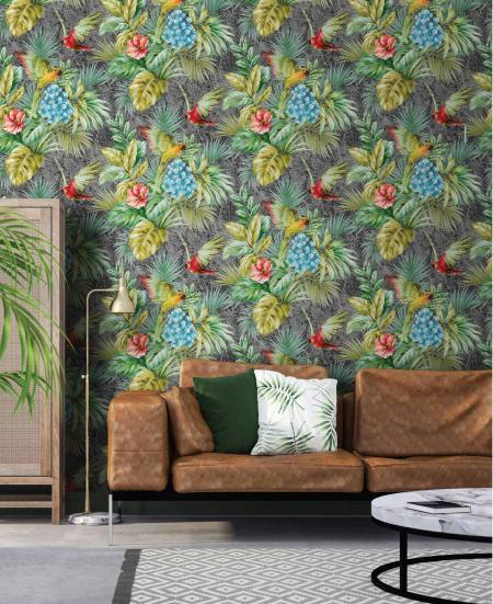 9905 Serie | Wallpaper Parrot and Tropical Plant Trend