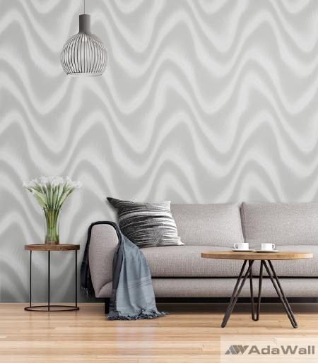 1611 Serie | Modern abstract metallic waves patterns wallpaper