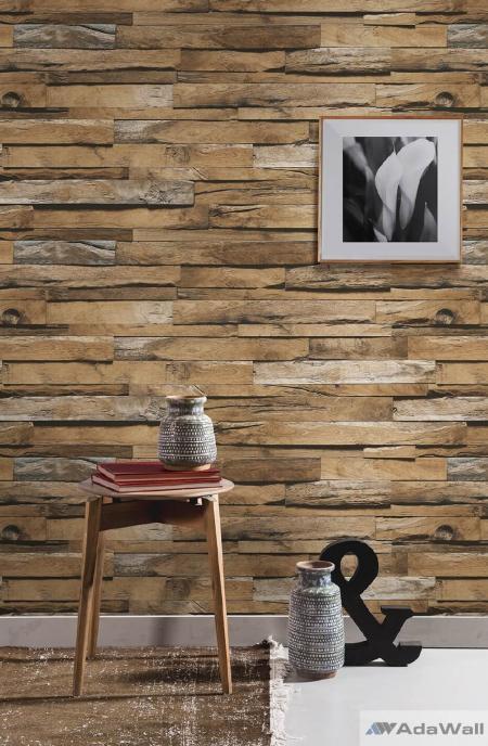 1612 Serie | Volumetric wooden tiles patterns wallpaper