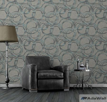1614 Serie | Metallised circles ornament wallpaper