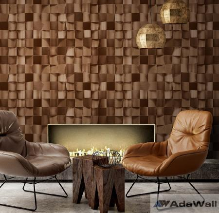 1615 Serie | Satinated wood tiles 3D pattern wallpaper