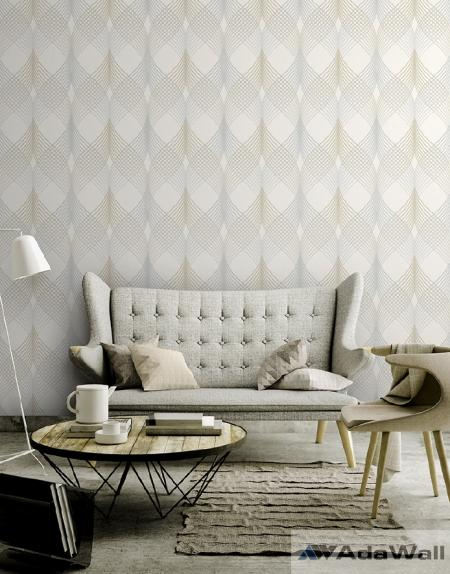 1620 Serie | Neoclassical wavey ornament wallpaper