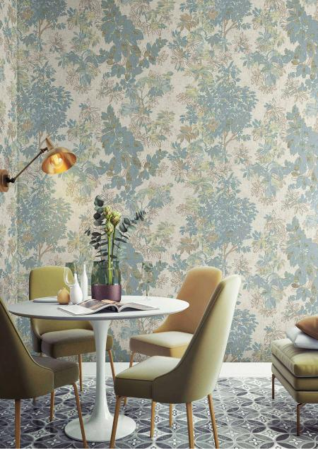 9907 Serie | Leaf Pattern Wallpaper That Will Make Your Rooms Look Stylish and Simple