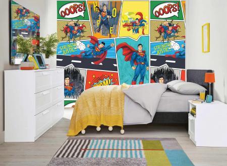 CODE WB2035 | SUPERMAN MURAL WALLPAPER