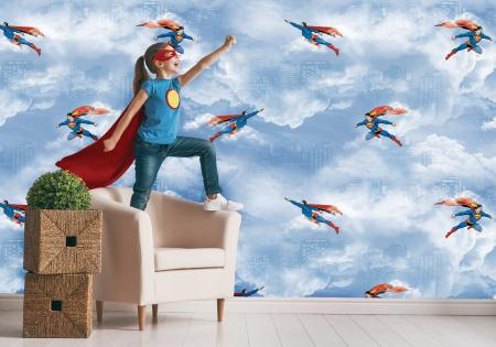 CODE WB2083 | SUPERMAN MURAL WALLPAPER