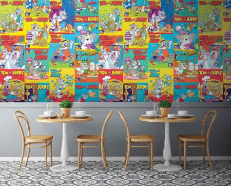CODE WB2088 | TOM AND JERRY MURAL WALLPAPER