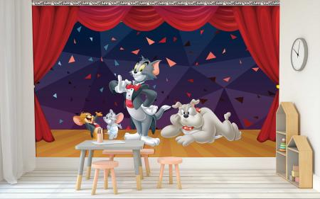 CODE WB2089 | TOM AND JERRY MURAL WALLPAPER