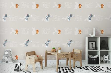 CODE WB2090 | TOM AND JERRY MURAL WALLPAPER