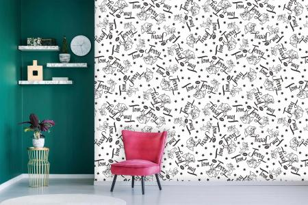 CODE WB2102 | TOM AND JERRY MURAL WALLPAPER