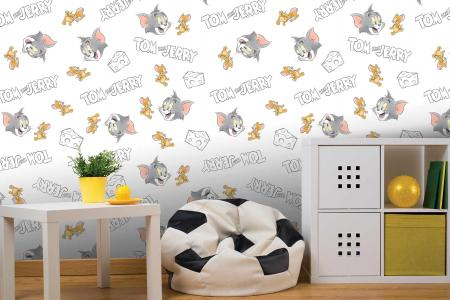 CODE WB2103 | TOM AND JERRY MURAL WALLPAPER