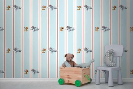 CODE WB2115 | TOM AND JERRY MURAL WALLPAPER