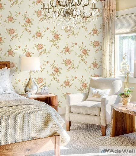 2616 Serie | Rose branches floral romantic pattern wallpaper