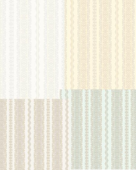 2619 Serie | Striped classical ornaments wallpaper