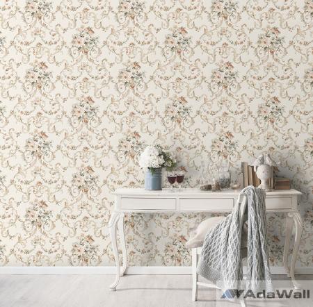 2620 Serie | Floral bouquet damask pattern wallpaper