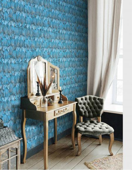 9913 Serie | Modern Bird Feather Patterned Wallpaper