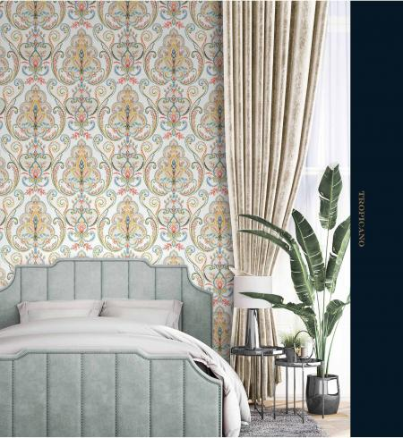 9901 Serie| Multicolored Damask Pattern Wallpaper