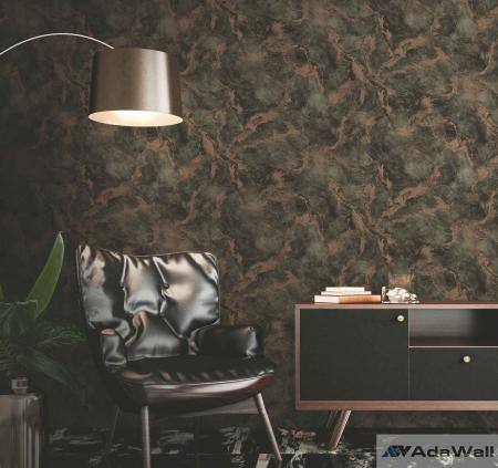 4712 Serie | Oxidised metallised marble texture wallpaper