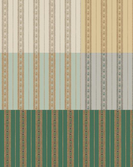 5808 Серия | Обои с классическим деликатным полосатым орнаментом