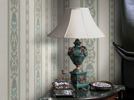 6803 Serie | Classic striped ornament wallpaper