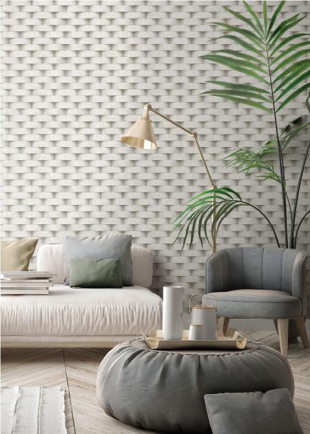 7814 Serie | 3D yuvarlak tuğla duvar deseni ile duvar kağıdı