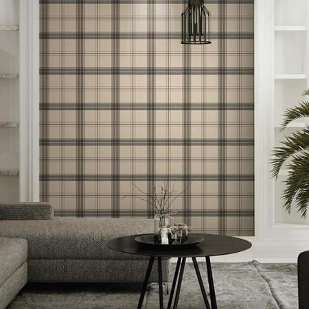 3714 Serie | Burberry textile inspiration checkered pattern wallpaper