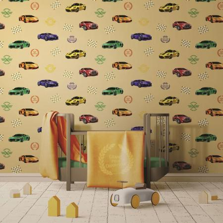 8909 Serie | Racing themed wallpaper for car and speed loving kids