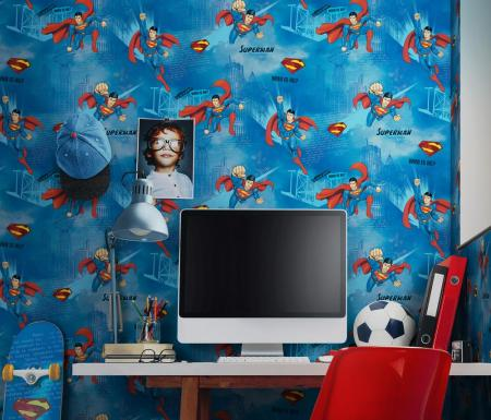 8914 Serie | Wallpaper with Superman design
