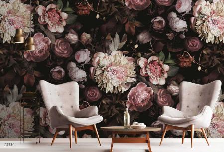 A322 Serie   Flower Pattern Mural Wallpaper